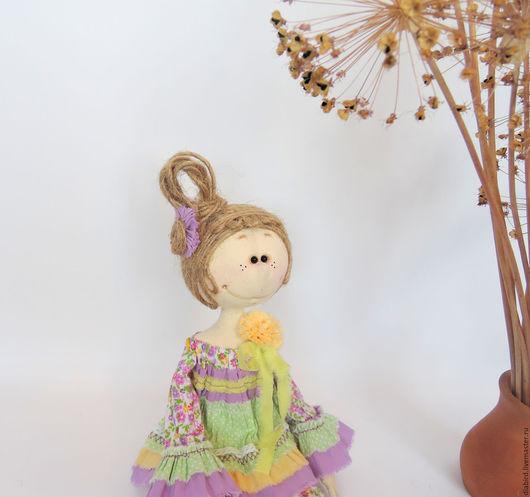 """Куклы тыквоголовки ручной работы. Ярмарка Мастеров - ручная работа. Купить Интерьерная кукла """" Весенние цветы"""". Handmade. Комбинированный"""