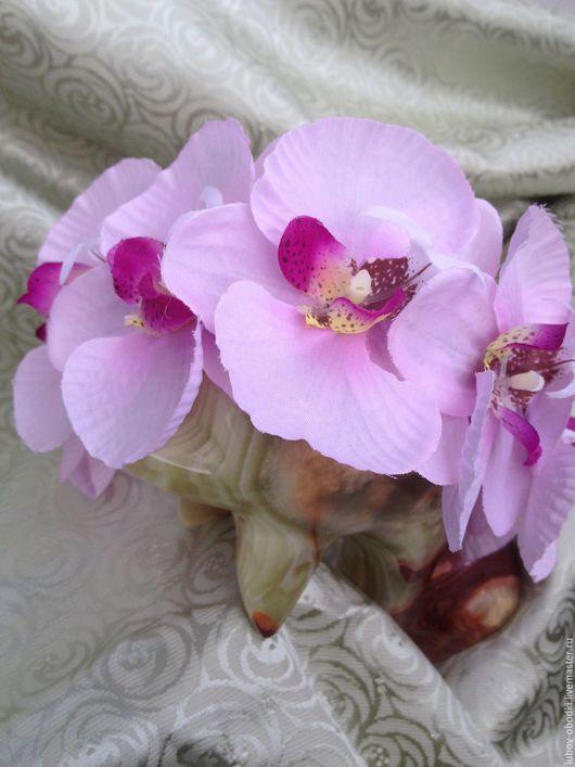 Диадемы, обручи ручной работы. Ярмарка Мастеров - ручная работа. Купить Ободок с орхидеями нежно розовый с крупными цветами. Handmade.