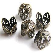 Материалы для творчества handmade. Livemaster - original item Cap beads filigree. Handmade.