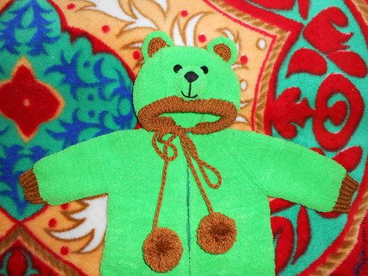 Одежда унисекс ручной работы. Ярмарка Мастеров - ручная работа. Купить Комбинезон Мишутка. Handmade. Зеленый, комбинезон детский, молния