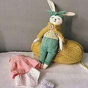 Тильда Зверята ручной работы. Ярмарка Мастеров - ручная работа Игрушка кукла зайка. Handmade.