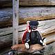 Мишка Рома - добрый, наивный, беззащитный - надежный друг или нетривиальный подарок. Игрушка ручной работы, сшитая по выкройке мишки тедди из вельвета и ситца (голова пришита, лапы на пуговичном креп