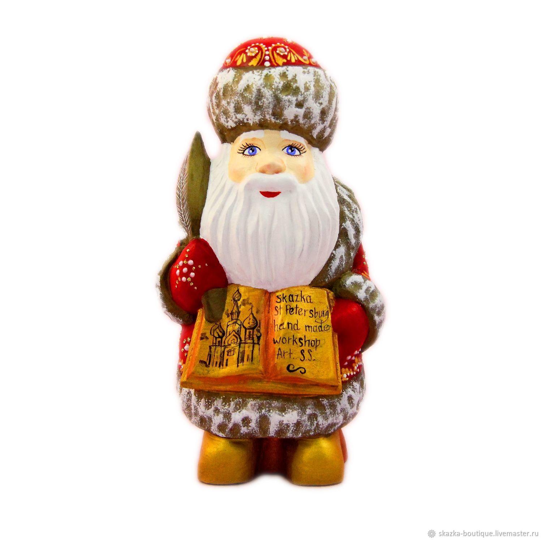 Деревянные резные игрушки - Дед Мороз, Снеговик, Народные сувениры, Санкт-Петербург,  Фото №1