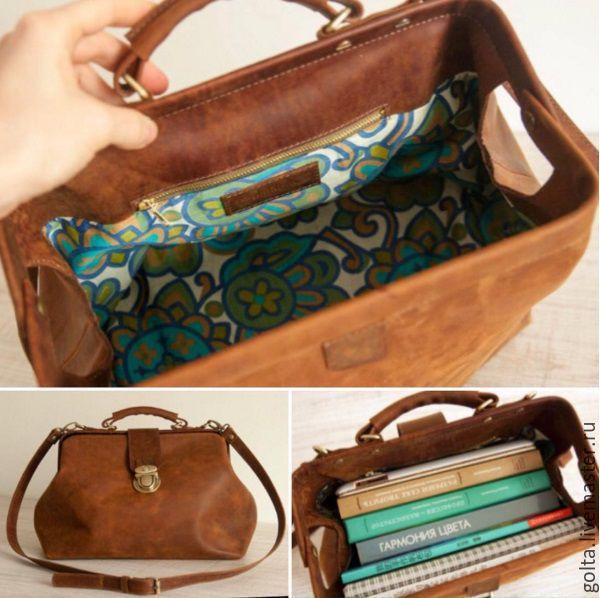 Как сшить сумку саквояж 42
