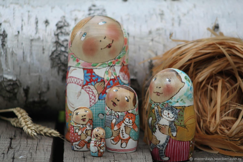 Matryoshka 'Girl with a stuffed lion', Dolls1, Zheleznovodsk,  Фото №1