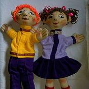 Куклы и игрушки ручной работы. Ярмарка Мастеров - ручная работа Оксанка и Тимофей. Большие перчаточные куклы.. Handmade.