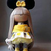 Тыквоголовка ручной работы. Ярмарка Мастеров - ручная работа Тыквоголовка: Куклы и пупсы: Интерьерная кукла мышка. Handmade.