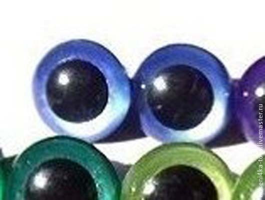 """Куклы и игрушки ручной работы. Ярмарка Мастеров - ручная работа. Купить 12мм Глаза для игрушек (темно-синие) 2шт. """"3433"""". Handmade."""