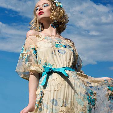 Одежда ручной работы. Ярмарка Мастеров - ручная работа Платье (пояс в комплекте). Handmade.