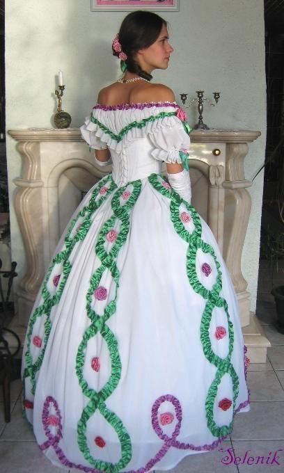 Как сделать платье из лент