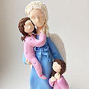 Для дома и интерьера ручной работы. Ярмарка Мастеров - ручная работа Мама ангел в голубом-2. Handmade.