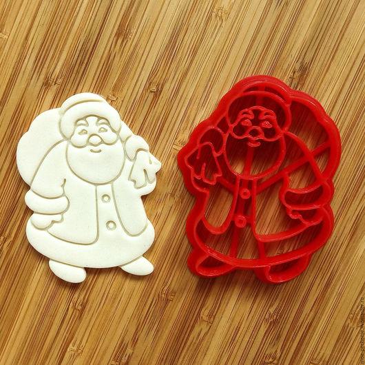 Дед Мороз (01).  Вырубка-штамп для пряника, печенья, мастики, поделок из соленого теста.