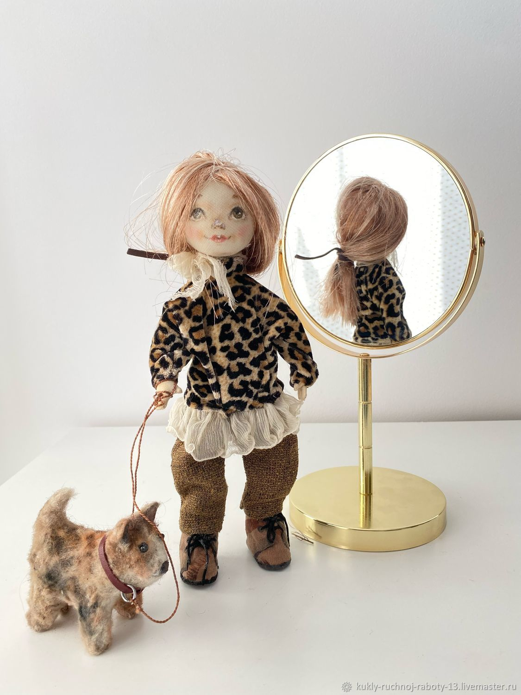 interior doll: Doll Lera with a dog Sailor, Interior doll, Ulan-Ude,  Фото №1