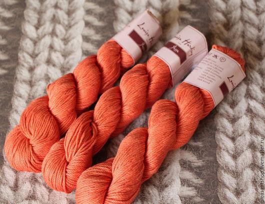 Вязание ручной работы. Ярмарка Мастеров - ручная работа. Купить Louisa Harding Jesse Cotton Orange. Handmade. Оранжевый