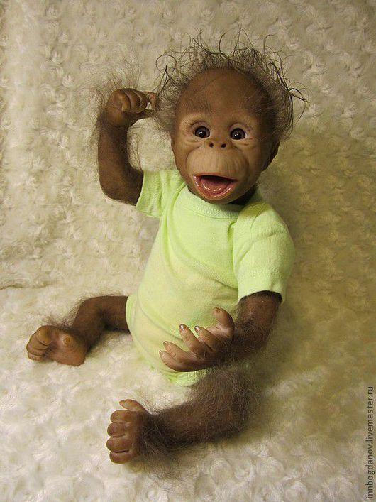 Куклы-младенцы и reborn ручной работы. Ярмарка Мастеров - ручная работа. Купить Кукла реборн Орангутанг Жаконя. Handmade. орангутан