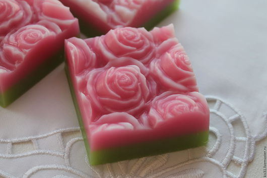 Мыло ручной работы. Ярмарка Мастеров - ручная работа. Купить Мыло ручной работы Розы. Handmade. Бледно-розовый