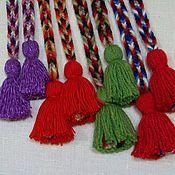 Русский стиль handmade. Livemaster - original item Belt child (3-10 years) red yellow green tassel. Handmade.