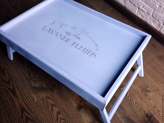 """Кухня ручной работы. Ярмарка Мастеров - ручная работа. Купить Поднос на ножках """"Lavande fleurs"""" lavender. Handmade. Поднос, столик"""