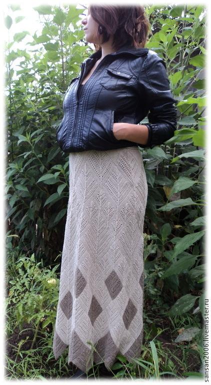 """Юбки ручной работы. Ярмарка Мастеров - ручная работа. Купить юбка """"Чистый лён"""". Handmade. Льняная юбка, бежевый"""