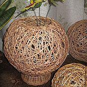 Для дома и интерьера ручной работы. Ярмарка Мастеров - ручная работа Ваза-шар из лозы. Handmade.