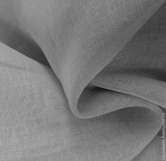 Шитье ручной работы. Ярмарка Мастеров - ручная работа. Купить Ткань тюлевая под Лен Серый. Handmade. Комбинированный, лен