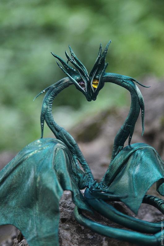 Сказочные персонажи ручной работы. Ярмарка Мастеров - ручная работа. Купить Двухголовый дракончик. Handmade. Морская волна, dragon