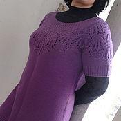Платья ручной работы. Ярмарка Мастеров - ручная работа Платье вязаное с ажурной кокеткой. Handmade.