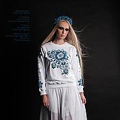 Одежда ручной работы. Ярмарка Мастеров - ручная работа Свитшот из коллекции RUSiberia (4). Handmade.