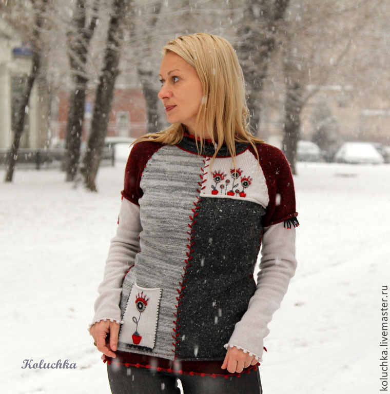 Sweater Jackets & Sweaters handmade. Livemaster - handmade. Buy December.Winter, warm clothes, beads