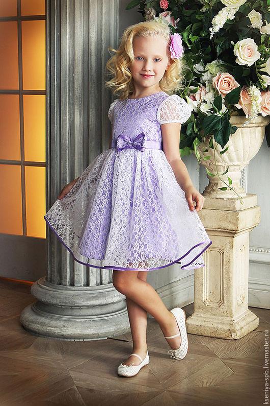 Одежда для девочек, ручной работы. Ярмарка Мастеров - ручная работа. Купить Платье в французском стиле, для маленьких девочек (сирень 72). Handmade.