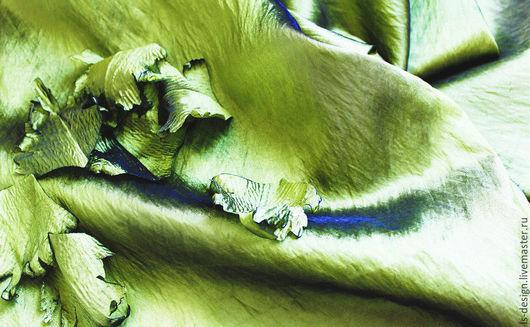 """Ткань для цветов ручной работы. Ярмарка Мастеров - ручная работа. Купить Ткань для создания цветов Kenzo  """"Зелень"""". Handmade."""