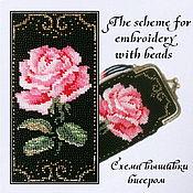 Материалы для творчества handmade. Livemaster - original item The scheme for embroidery with beads Retro. Handmade.
