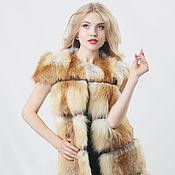 Одежда handmade. Livemaster - original item Fox fur vest in red. Handmade.
