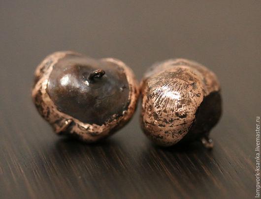 Для украшений ручной работы. Ярмарка Мастеров - ручная работа. Купить Плоды каштана омедненные и патинированные. Handmade. Металлическая фурнитура