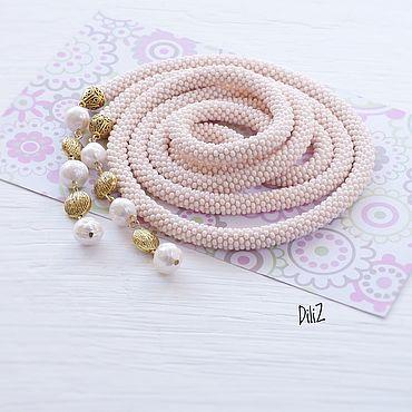 Decorations handmade. Livemaster - original item River pearl Lariat, beaded tourniquet. Handmade.
