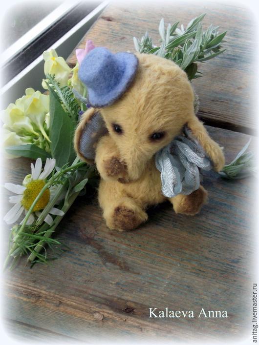 Мишки Тедди ручной работы. Ярмарка Мастеров - ручная работа. Купить Карманный Слоник Тедди(6,5см.). Handmade. Желтый