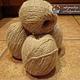 Вязание ручной работы. Ярмарка Мастеров - ручная работа. Купить Пряжа из натуральной собачьей шерсти ручной работы. Handmade.