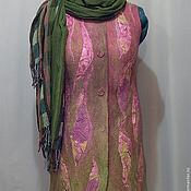 """Одежда ручной работы. Ярмарка Мастеров - ручная работа Жилет """" Первоцвет"""" войлок. Handmade."""