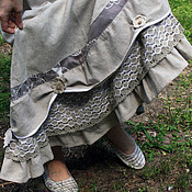 """Одежда ручной работы. Ярмарка Мастеров - ручная работа Льняная юбка """"Мой луг"""". Handmade."""