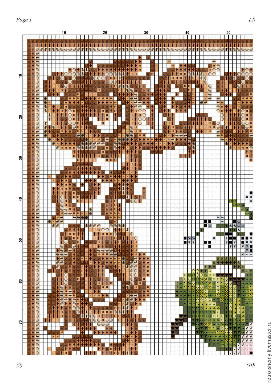 Схемы для вышивки коврика крестом 673