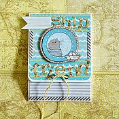 """Открытки ручной работы. Ярмарка Мастеров - ручная работа Складная открытка """"Море, лето, дружба"""". Handmade."""