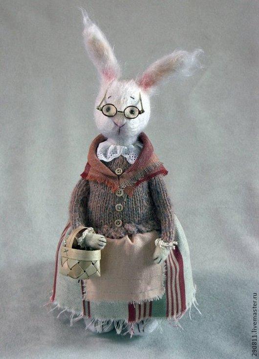 Коллекционные куклы ручной работы. Ярмарка Мастеров - ручная работа. Купить Зайка Берта.. Handmade. Белый, зайка, сказочный персонаж
