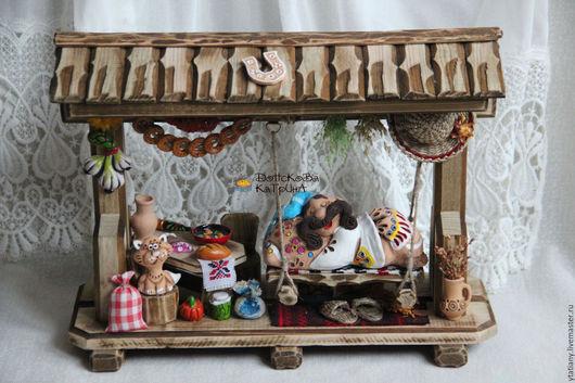 """Персональные подарки ручной работы. Ярмарка Мастеров - ручная работа. Купить Большая миниатюра """"Красивая жизнь"""". Handmade. Миниатюра"""