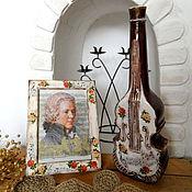Подарки к праздникам ручной работы. Ярмарка Мастеров - ручная работа Подарок музыканту ваза + фоторамка. Handmade.