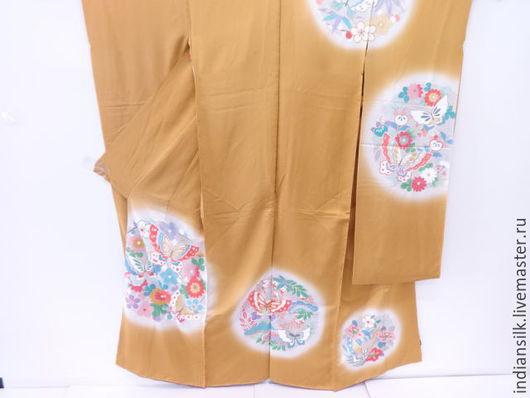 Одежда. Ярмарка Мастеров - ручная работа. Купить ШОК-ЦЕНААнтикварное праздничное Фурисоде Кариэба. Handmade. Комбинированный, япония, японский стиль