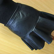 Одежда handmade. Livemaster - original item Leather skirt