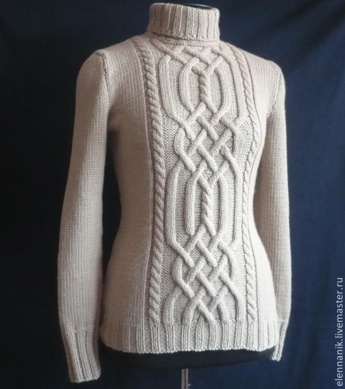 ea743c599b Sweater Jackets   Sweaters handmade. Livemaster - handmade. Buy Women s  sweater with braids knitting ...