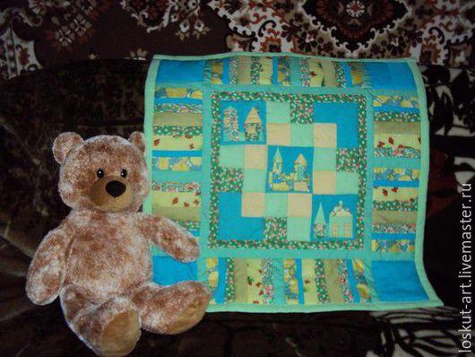 """Пледы и одеяла ручной работы. Ярмарка Мастеров - ручная работа. Купить Одеяло для новорожденного """"Маленький город"""". Handmade. Комбинированный"""