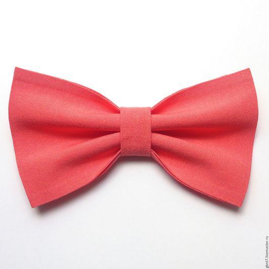 Галстуки, бабочки ручной работы. Ярмарка Мастеров - ручная работа. Купить Галстук-бабочка коралловая персиковая розовая М171. Handmade.