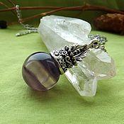 Фен-шуй и эзотерика handmade. Livemaster - original item The pendant-harmonizer with fluorite. Handmade.